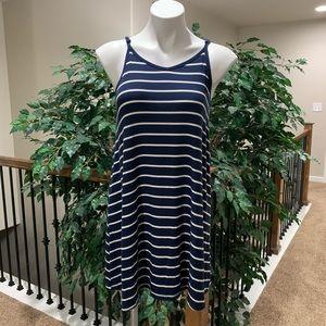 Mossimo Blue & White Striped Slip On Dress Size S